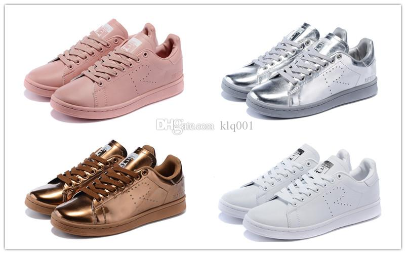 Hot Cakes Raf Simons Stan Smith Spring Copper Man Casual Leather Woman Man  Shoes White Pink Black Fashion Shoes Cheap Sale Flats Size 36 45 Flat Shoes  ...