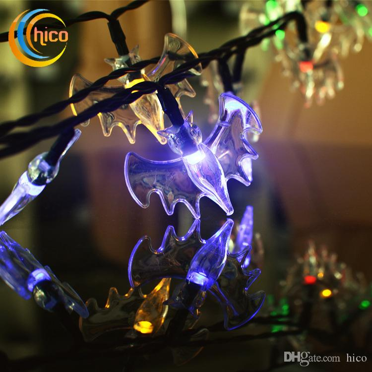 outdoor led christmas lights solar string lights bat animal 6m 30 leds waterproof exterior string lights clear string lights from hico 1126 dhgatecom