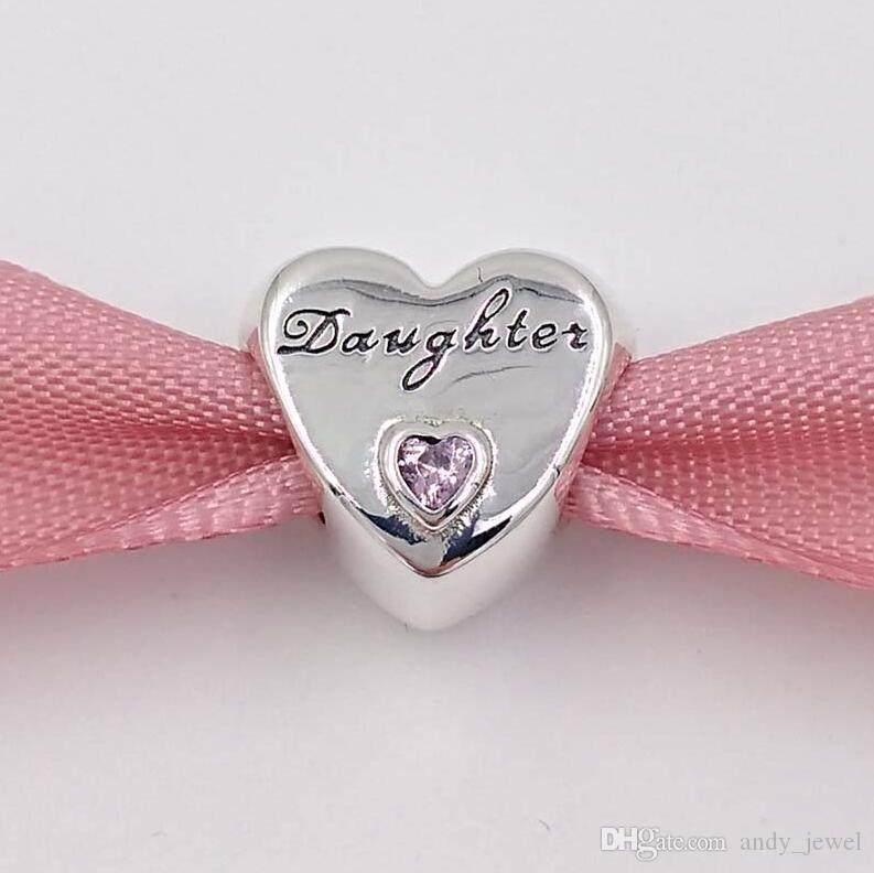 Mothers Day Gift 925 Sterling Silver Beads DaughterS Love Charm Fits European Pandora Style Brand Bracelets Z For Jewelry Making Gifts