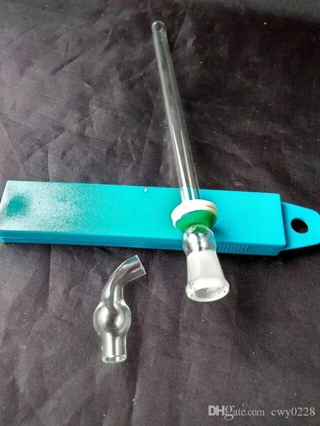 Acessórios de bongos de adaptador de plugue de vidro, Queimador de óleo original Bongos de vidro Tubos Tubos de água Tubulação de vidro Plataformas de petróleo Fumo com conta-gotas
