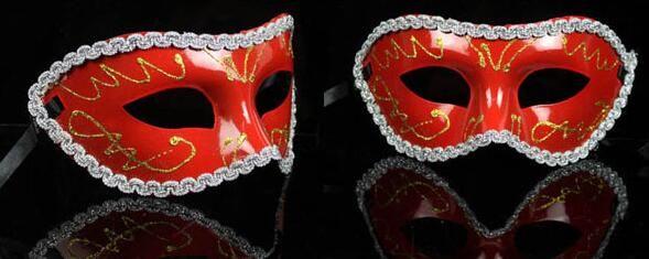 Masquerade kostymfest nytt år Jul Halloween Dans Kvinnor Sexiga Mix Face Mask Venetian Masks