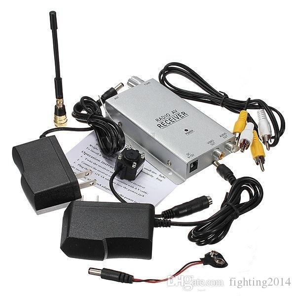 Mini telecamera wireless Night Vision Mini telecamera a foro stenopeico Telecamera telecamere di sicurezza domestica CC con telecamere a 1.2 GHz