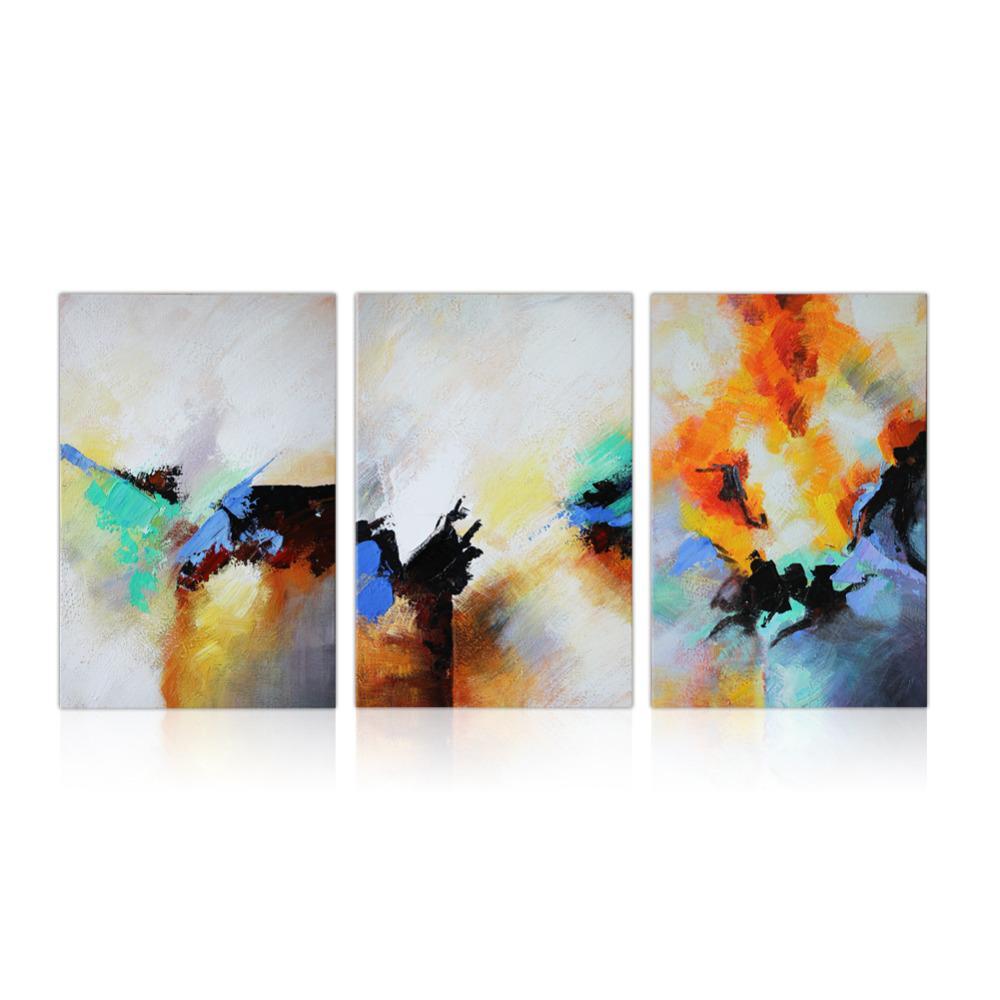 Compre Iarts Arte Moderno Abstracto Enmarcado Pinturas Al Óleo ...