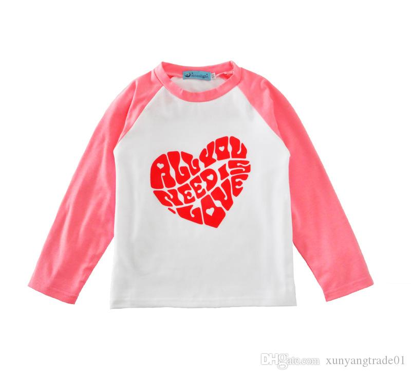 bfd9db9b844 2019 INS Newborn Baby Clothes Boys Girls Cotton Casual Raglan Long Sleeve T  Shirt Letters Kids T Shirt Baby Tops Children Clothing Wholesale 040 From  ...