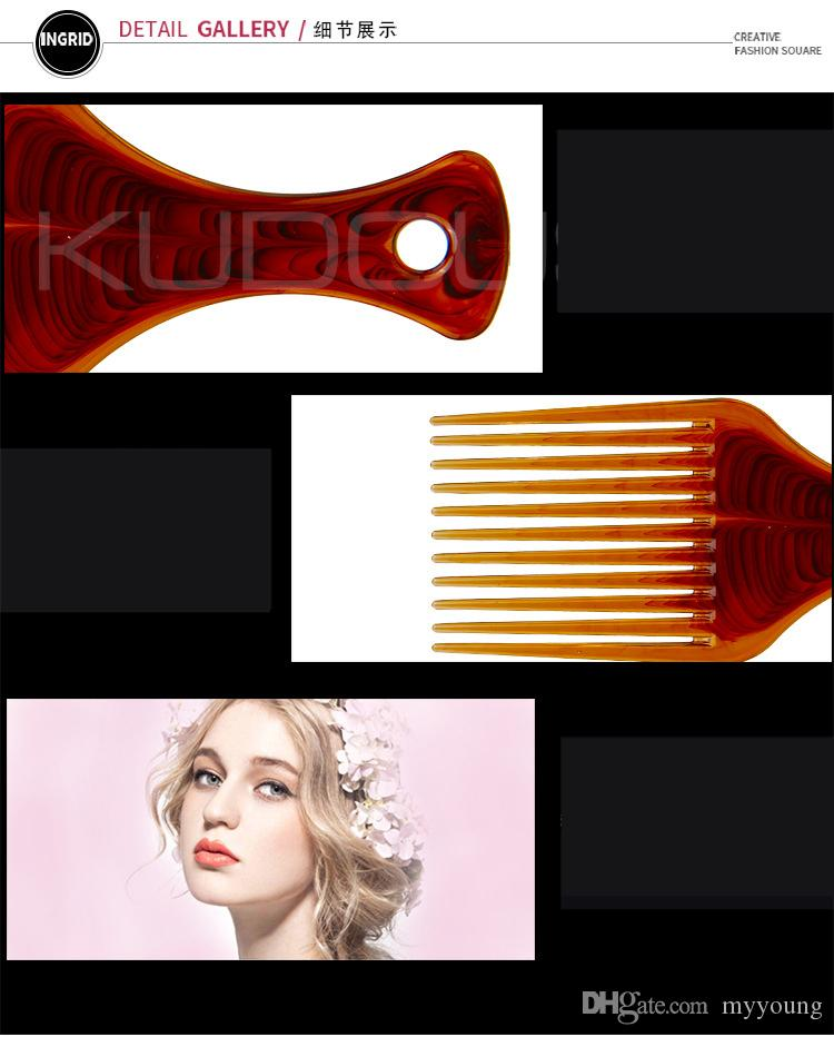 Hot Sale Hair Styling Combs Anti Static Professional Salon Wide Tine Comb High Quality .
