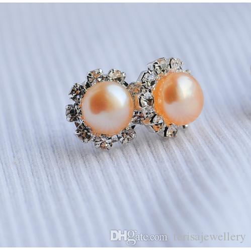 Neue Ankömmling Natürliche Perle Schmuck Rosa Süßwasser Perle Ohrringe Natürliche Form Silber Ohrring Hochwertige Dame stil