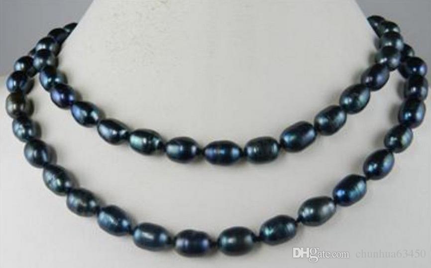 noir 7-8mm,boucles d/'oreilles multicolore,perle,argent