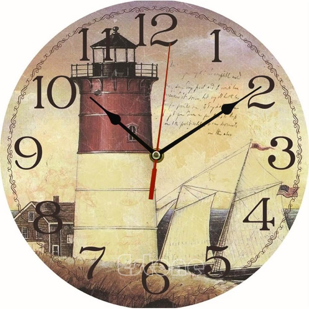 Compre Reloj De Pared De Madera De La Al Por Mayor Vintage A 29 7  ~ Relojes Grandes De Pared Vintage