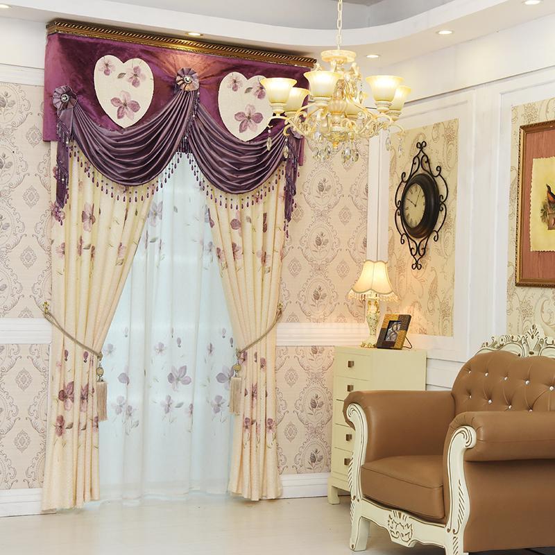 Acquista tenda oscurante di finestra europea di lusso camera da letto dei bambini soggiorno - Tenda camera da letto ...