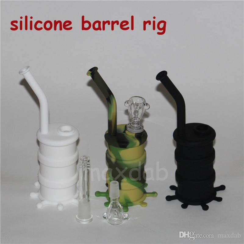 도매 실리콘 배럴 rigs 무료 배송 OEM 건조한 허브 실리콘 오일 rigs에 대 한 사용할 수있는 실리콘 드럼 석유 장비