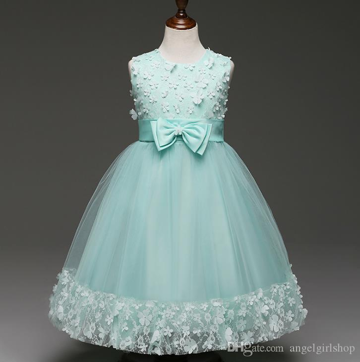Summer Formal Kids Dress For Girls 2017 Princess Wedding Party