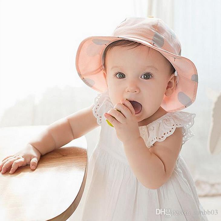 새로운 아이들 아기 일광욕 어린이 만화 양동이 모자 아이 모자 아이들의 소년 소녀 코튼 태양 모자 캐주얼 바이저 모자 6 색