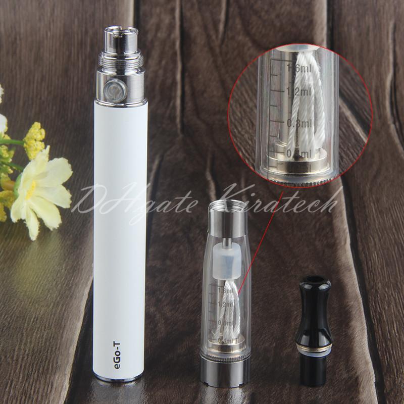 eGo t vape pen starter kit ce4 atomizer wicks ego-t e liquid vaporizer pens ecig charger blister starter kits