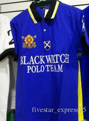 956ad16f Good Quality Black Watch Polo Team Mens Polo Shirt Big Horse Print Brand  Casual T-Shirts Short Sleeve Fashion Polos Summer S-XXL Polo Shirt Online  with ...
