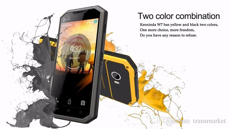 Kenxinda W7 IP68 5.0Inch waterproof smartphone Android 5.1 dual SIM dual camera 4G LTE Quad core 1GB + 16GB 8MP rugged mobile shockproophone