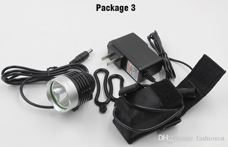 1800Lm велосипед передний свет CREE T6 LED 3 режима Фара фары с батарейным блоком оголовье зарядное устройство