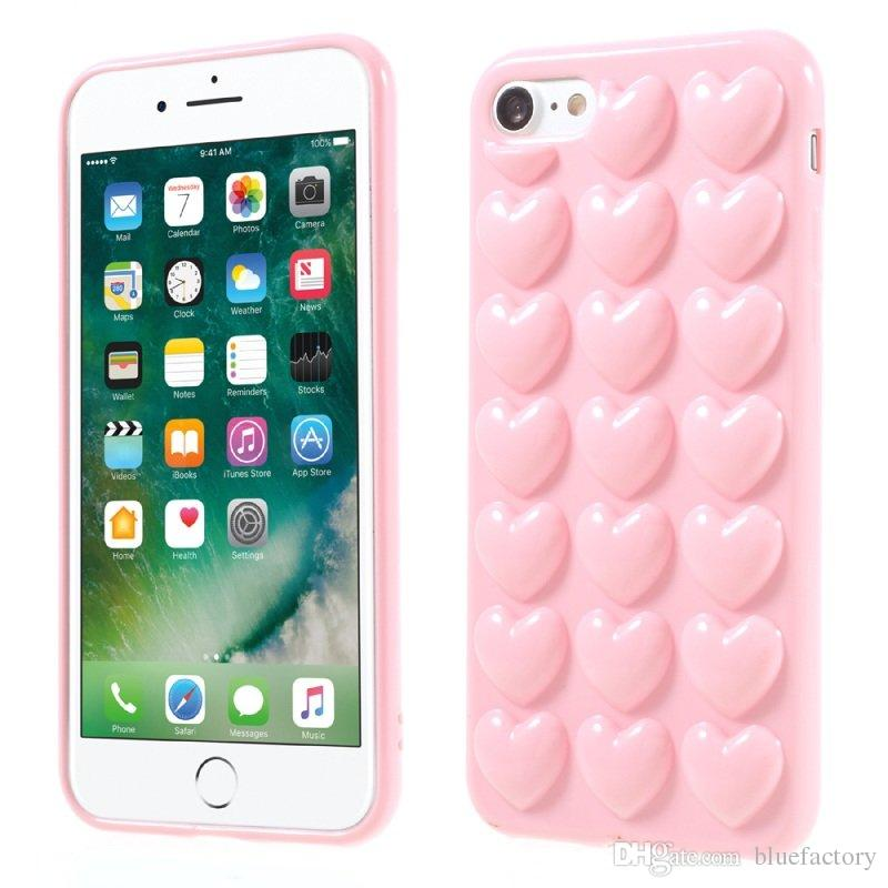 coque silicone iphone 8 plus coeur