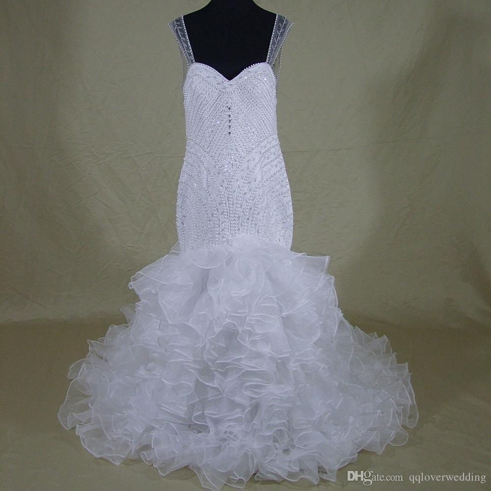 Discount Designer Wedding Gowns: Luxury Vintage Meamaid Wedding Dresses Sweetheart Lace