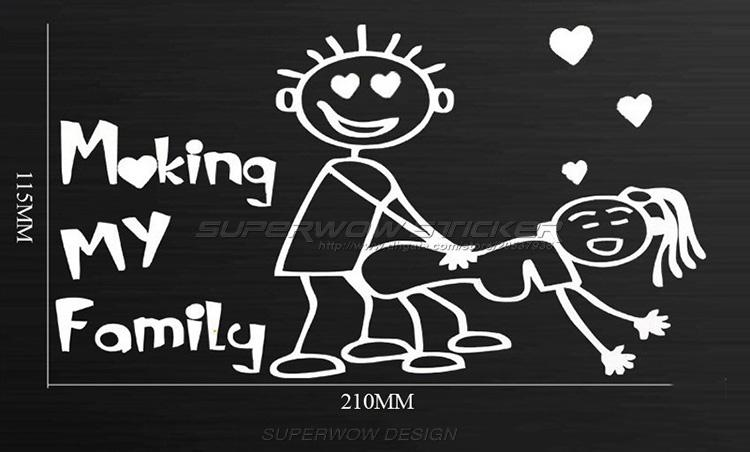 Making My Family Car Sticker Personalized Car Security - Custom made car stickers