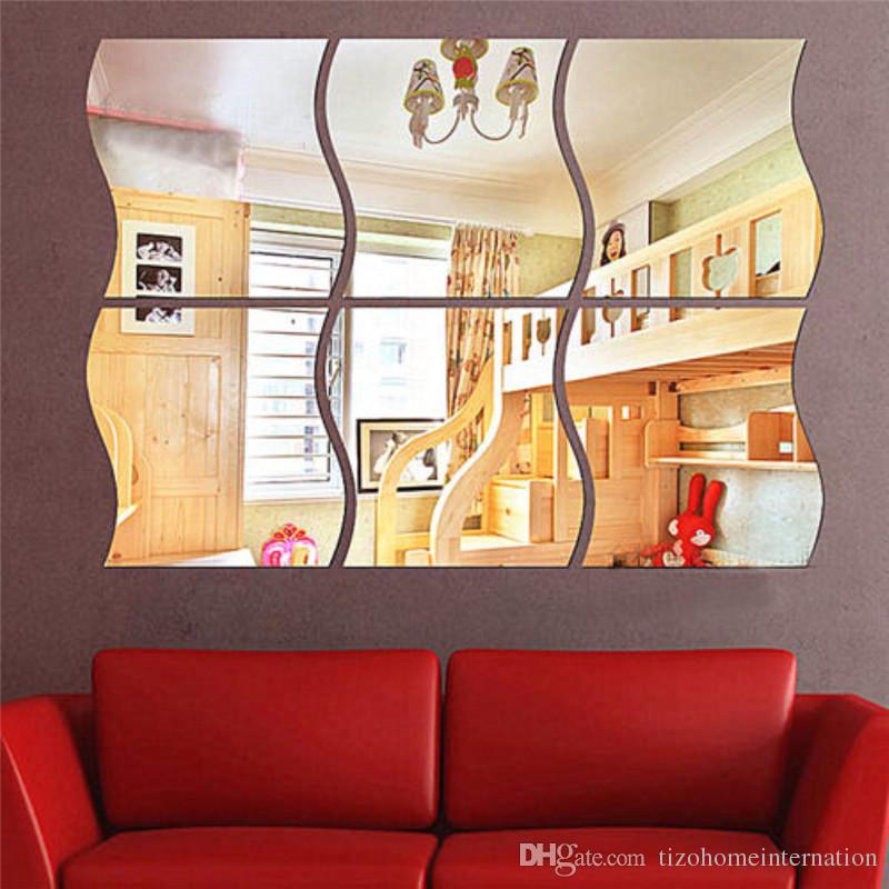 Three Dimensional Wall Art three dimensional mirror like wall decoration acrylic mirrored