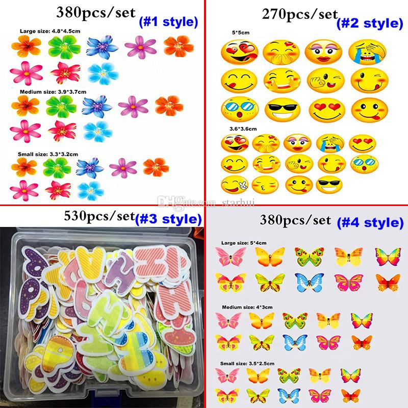 Newest Edible Cake Flowers Topper Wafer Paper Butterfly Cupcake Picks Wedding Cake Decoration Birthday Party Decoration Kids WX-C62