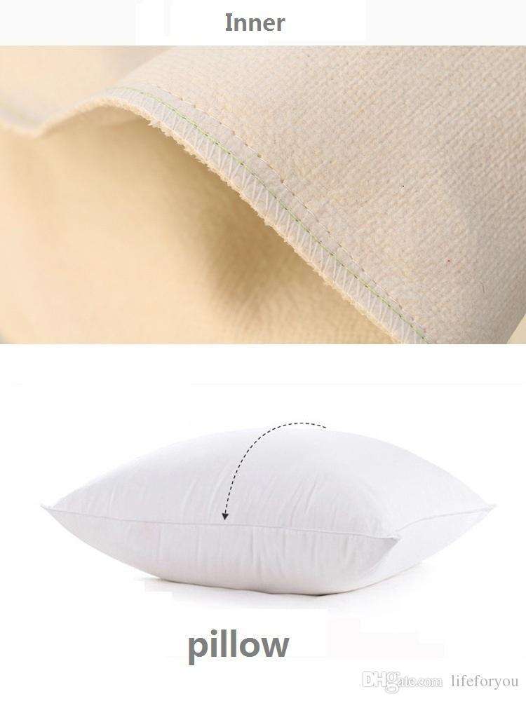Lettre coussin décoratif créatif coussin d'ameublement avec double impression côtés lin coton jet Taie 17.7x17.7inch