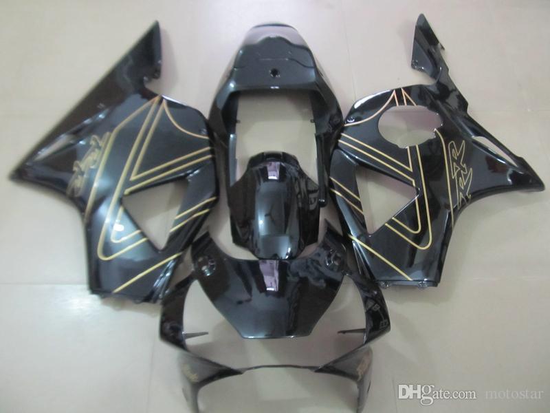 Kit de carénage de rechange pour Honda CBR900RR 02 03 carénages de moto noirs brillants fixés CBR 954RR 2002 2003 OT06