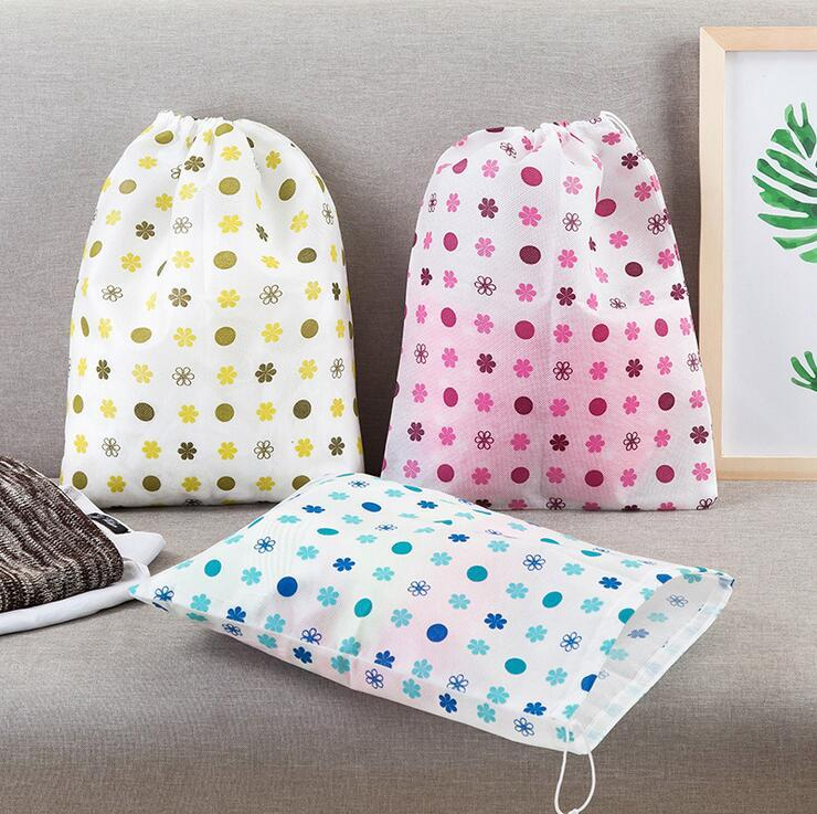non-woven fabrics storage bags korean style cute travel portable dust cover printed shoes clothes sundries storage bags wardrobe organizer