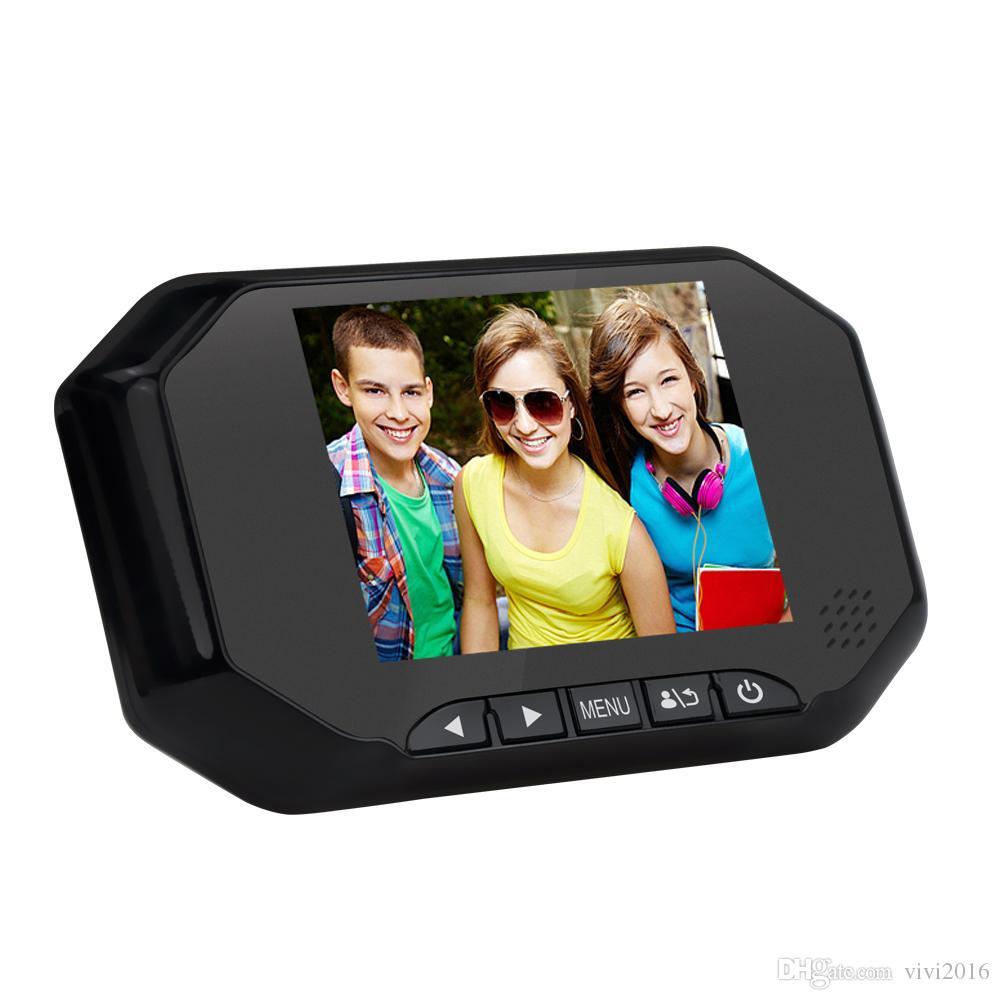 3,5 polegadas LCD Digital Door Viewer Peephole Campainha 160 graus Home Security Porta Bell Camera Photo Shooting PIR 16GB Gravação de Cartão SD