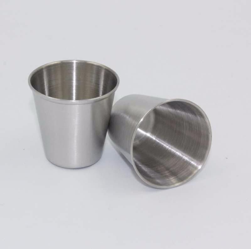 HOT SALE Drinking Glass Stainless Steel Shot Glasses Cups Wine Beer Whiskey Mugs Outdoor Travel Cup epacket free