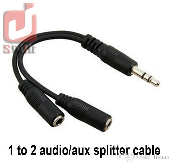 Audiokonvertierungskabel 3.5mm Mann zum weiblichen Kopfhörer-Jack-Teiler-Audioadapterkabel Großhandels /