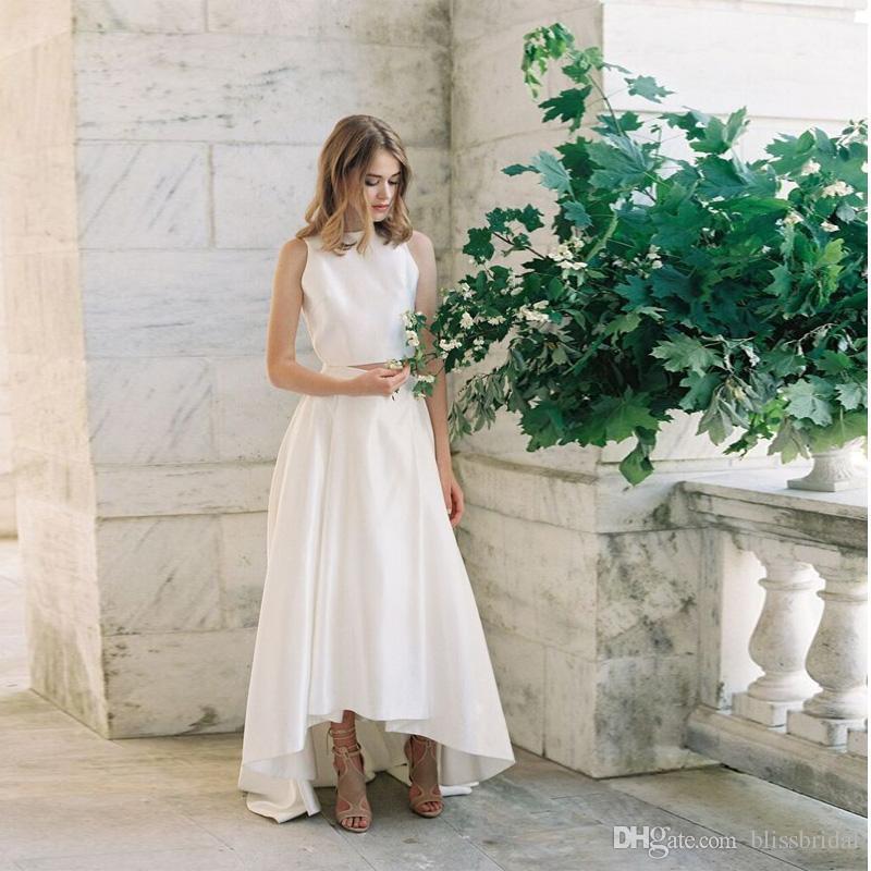 2017 New Arrival Elegant High-Low White Satin Skirt Custom Made A-Line Floor Length Formal Skirts Evening Skirts