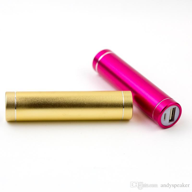 Portable Power Bank 1200mAh Alliage d'aluminium Mini Mobile Batterie de chargement de puissance universelle mobile avec paquet de détail / up
