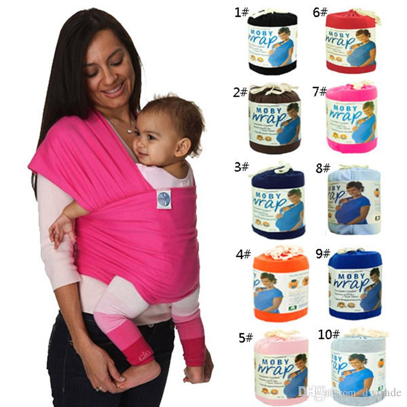 DHL Fast Shipping cotton solid baby carriers Infant Breastfeed Sling Baby Stretchy baby Wrap Backpack Bag kids Breastfeeding hipseat