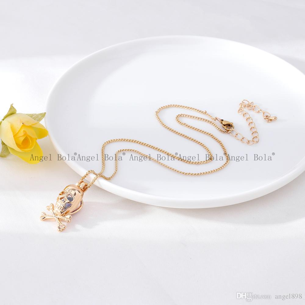 5 / лот Оптовая 3 стили на складе 18kgp мода череп эльфы клетки DIY жемчужина / драгоценный камень бусины медальон клетки ожерелье