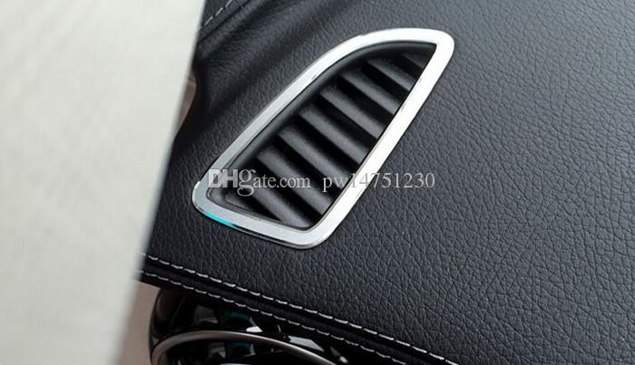 2017 Interior Instrument air conditioning vent frame decorative cover trim sequins for Mercedes Benz C class W205 air outlet decals