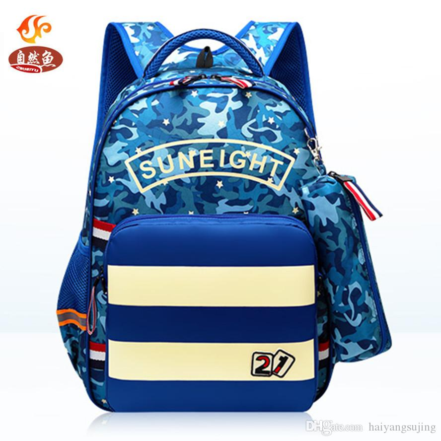 Hot Boys School Bags Aircraft Children S Orthopedic Girl Backpack + Shoulder  Bag + Pencil Camouflage Mochila Infantil Bolsas Primary Outdoor Rucksack ... ba374b1acd01c