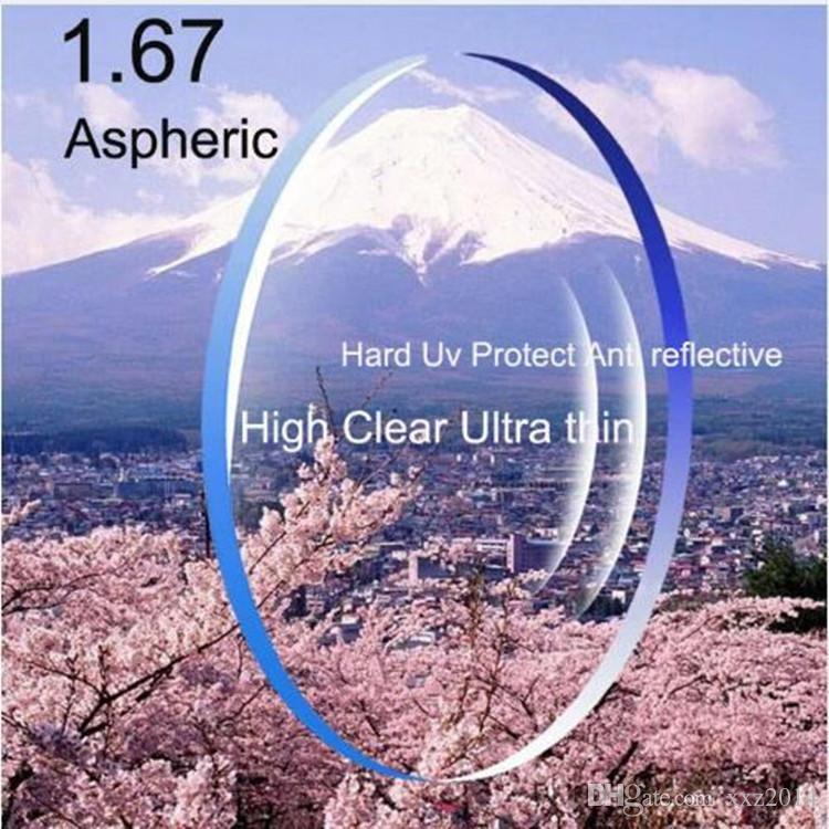 RX-العدسات حسب الطلب 1.67 ذات المؤشر العالي خفيفة للغاية النظارات الطبية والعدسات قصر النظر asperic