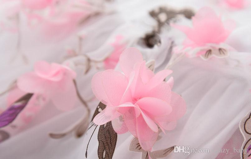 Ropa de bebé Vestido de verano para niñas y niños Vestido de novia de chica Vestido de flores de encaje
