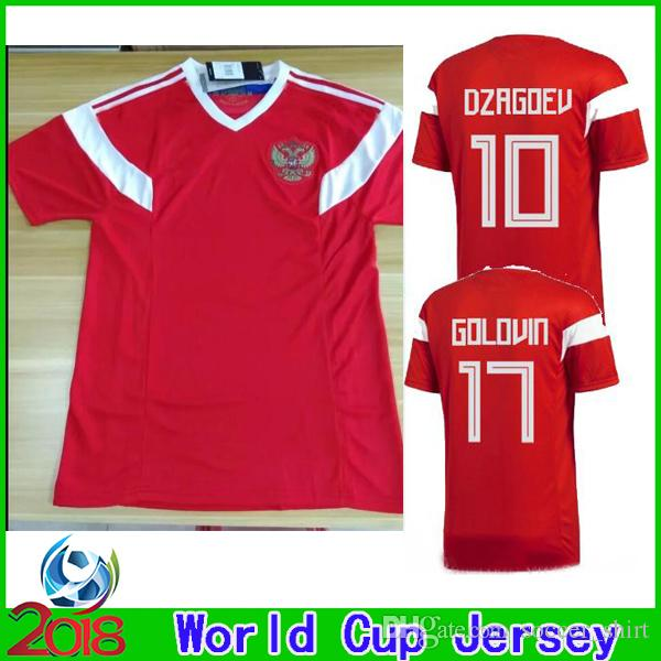 1756a7a9a 2018 Russia World Cup Home Red Soccer Jerseys New Russian Soccer Shirt Thai  Quality ARSHAVIN KERZHAKOV DZYUBA Kokorin Smolov Football Shirts UK 2019  From ...
