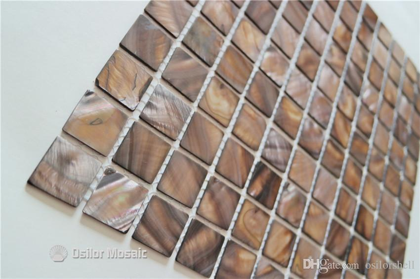 Dyed grey Chinese freshwater shell mother of pearl mosaic tile for interior house decoration bathroom and kitchen wall tile 25x25mm