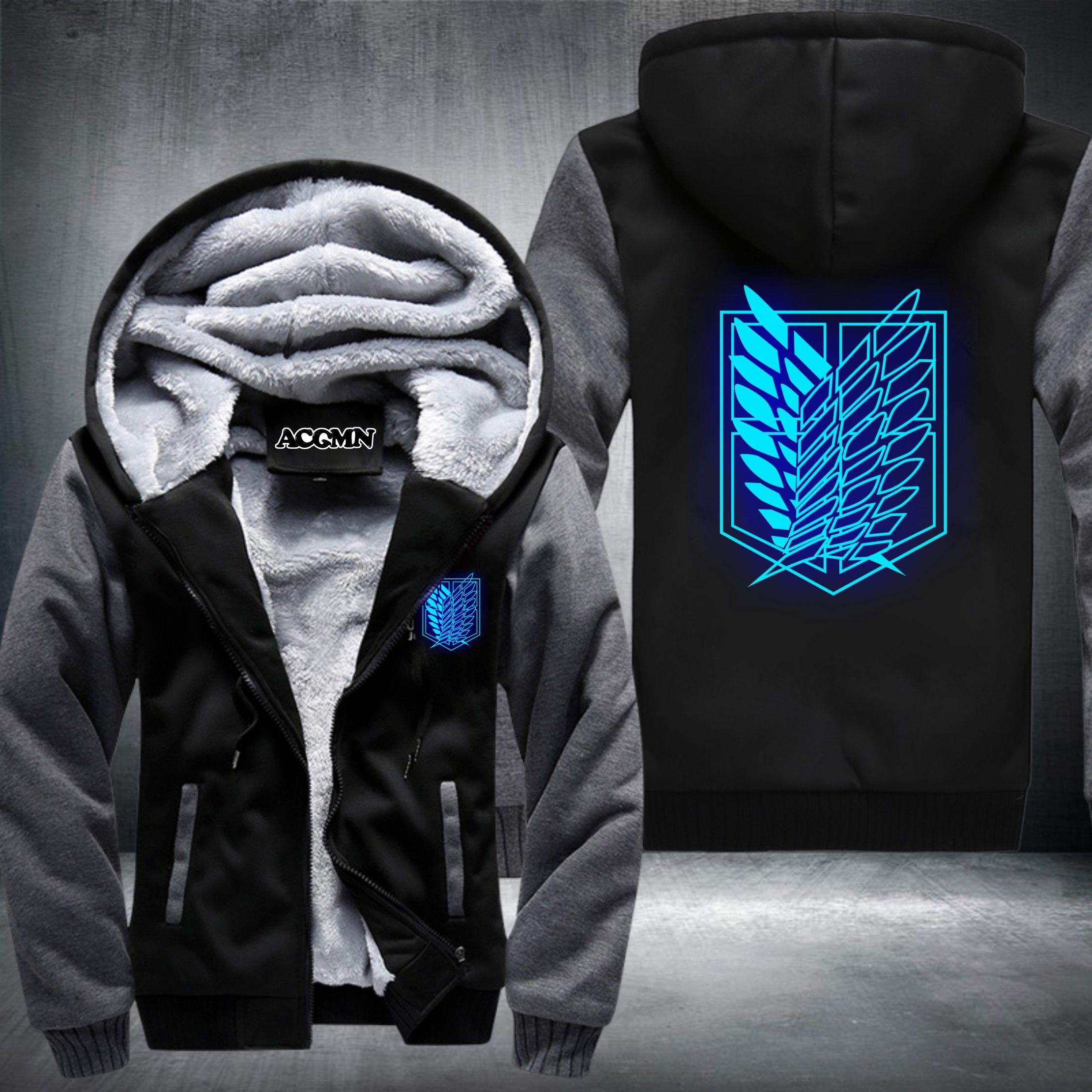 795149f0822 2019 Wholesale New Shingeki No Kyojin Attack On Titan Aren Thicken Jacket  Hoodies Coat Extra Cotton Black BLUE GREY RED USA Size From Felix06