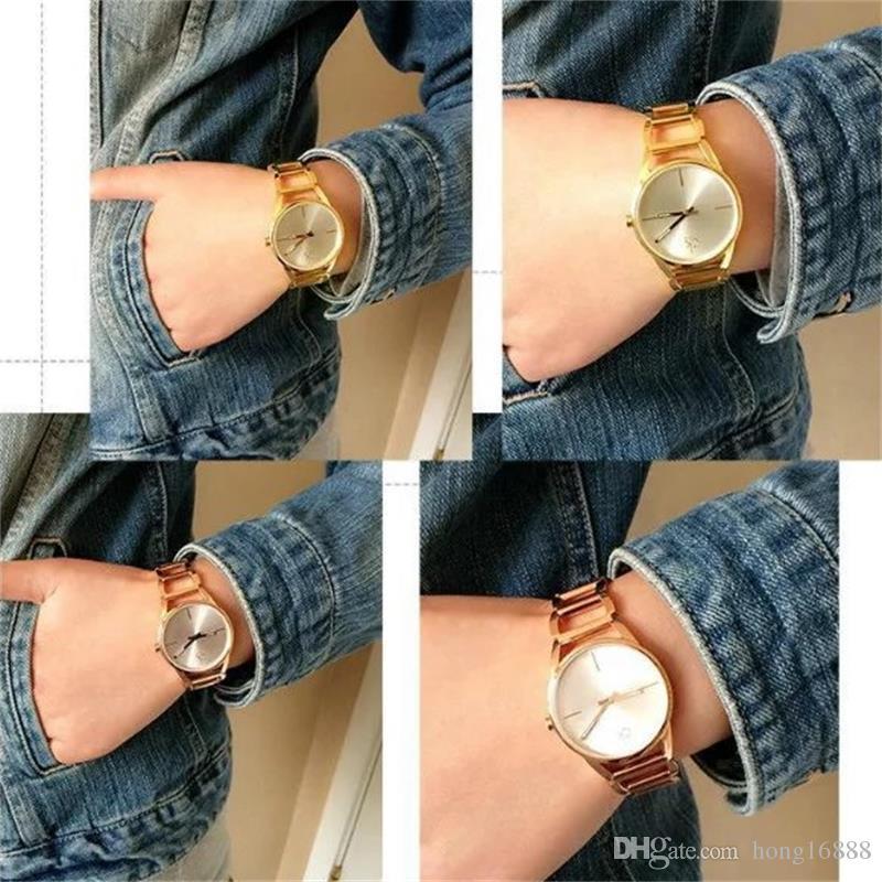 Rahat Moda Kadınlar Kuvars Saatler geometri Kare çerçeve Bilezik Saat kayışı Paslanmaz Çelik Lüks Saatler Toptan