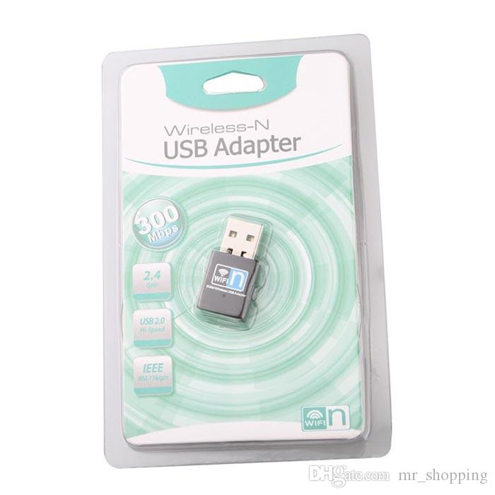 300m 802.11n / g / b T Mini tarjeta de red inalámbrica USB Receptor de señal WiFi transmisor de escritorio WLAN Adaptador USB inalámbrico wifi n tarjeta de red
