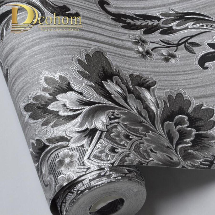 Acheter Bonne Qualite Moderne 3d Damasse Papier Peint Pour Murs
