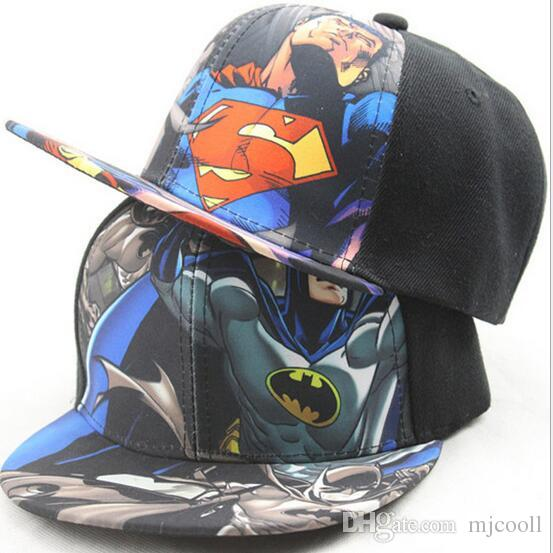 9b0e79b1e0afa Snapback Sunscreen Children  S Superman Color Printing Baseball Cap Cartoon Hip  Hop Tide Street Dance Hats Big Hats Hat Stores From Mjcooll