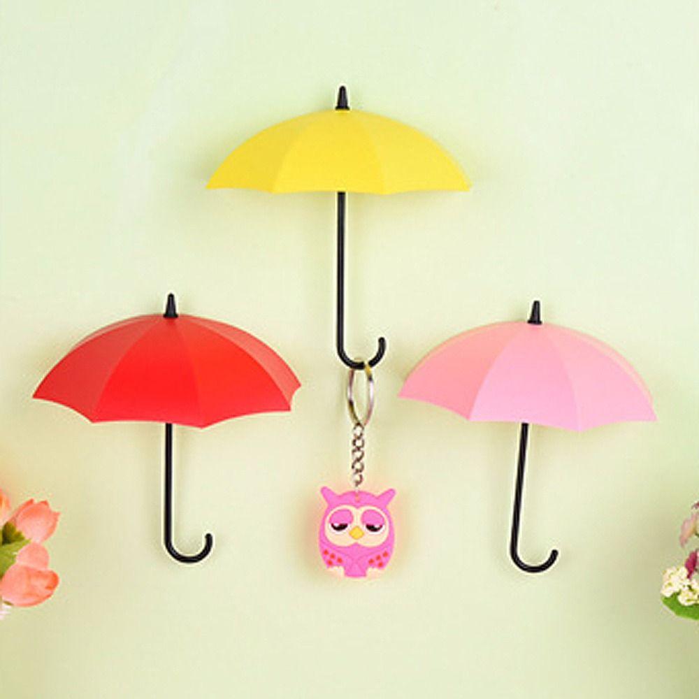 Umbrella Shaped Creative Key Hanger Rack Decorative Holder Wall Hook