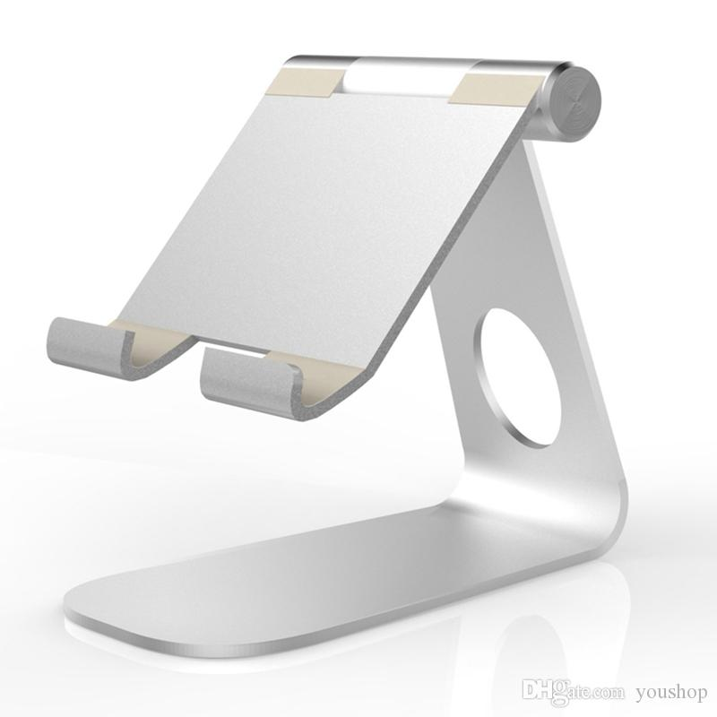 Adjustable Aluminum Tablet Stand Desktop Cell Phone Holder for All Mobile Phone for ipad Pro 12.9