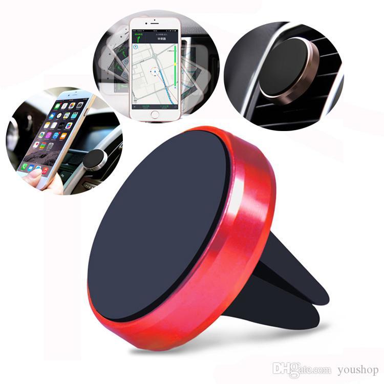 Универсальный 360 Вращающийся Автомобильный Держатель Магнитный Держатель Стенд для Сотового Телефона для Xiaomi Redmi 3 для iPhone 7 7 Plus 6 6 S Plus