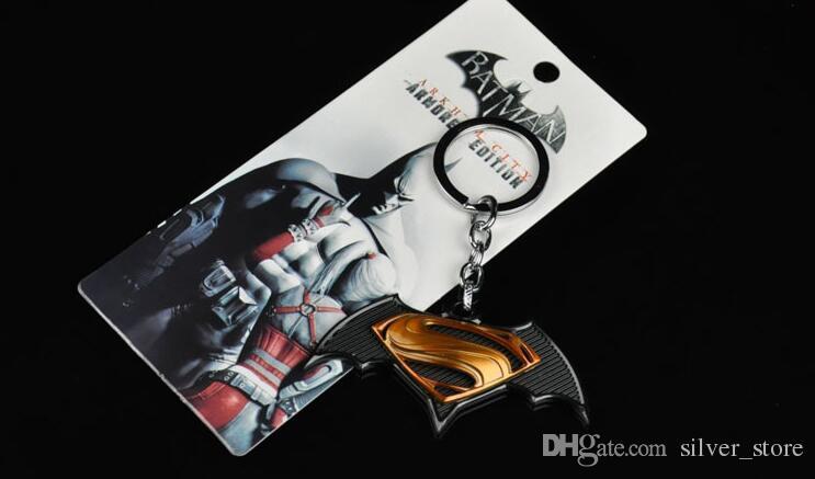La serie dei nuovi uomini di alta qualità della catena chiave del portachiavi maschio dell'automobile di Superman del pendente di Superman di Batman KR059 mescola l'ordine 20 pezzi molto